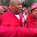 EFF MPs leave parliament singing and chanting. http://t.co/8SxvDK1Ve5