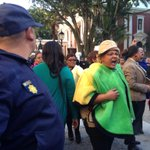 RT @JerushaRaath: Police form a barricade between EFF MPs and irate ANC supporters. http://t.co/n3kbM5jDeS