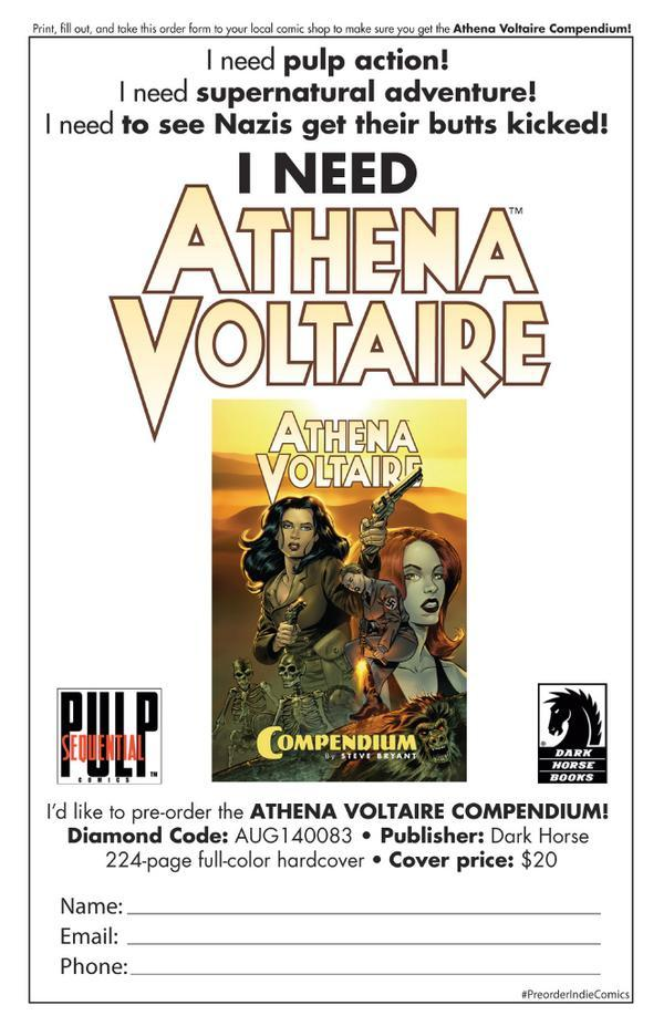 Do you like pulp adventure in your comics?Check out Athena Voltaire http://t.co/AVlsxlccrF Available to preorder now! http://t.co/D5VGdyS4ZW