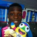Congrats! K. Mouliom (FRA) wins gold in Men's Dunk Contest! #yogbasketball #nanjing2014 #YOGselfie @youtholympics http://t.co/001aNPDebt