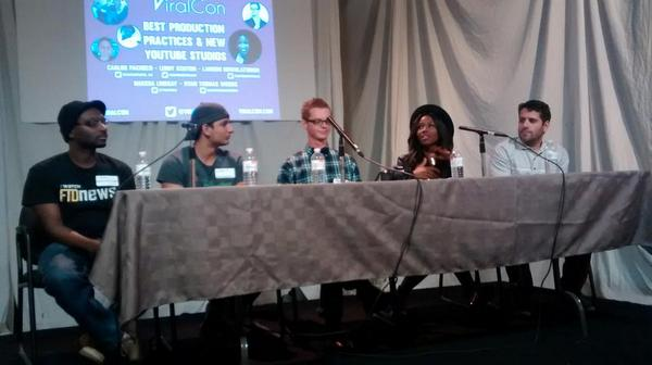 Production panel @Viral_Con w/ @carlospache_co @InformOverload @ryanthomaswoods @ynotkeeb http://t.co/mlzXqyFWtC