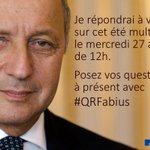 Posez-moi vos questions avec le hashtag #QRFabius et rendez-vous le mercredi 27 août à 12h cc @francediplo http://t.co/ZmFS4eTVkZ