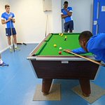RT @photojoedent: Bit of pool for the lads during a break between training session today #pufc http://t.co/0LxLyEi4bi