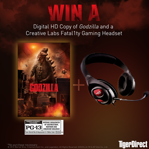 Retweet for a chance to win #Godzilla on Digital HD and a Creative Labs Headset! Own the Blu-ray™ 9/16 @GodzillaMovie http://t.co/IYTnPzHufr