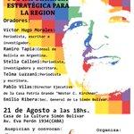 RT @vh590: A las 18 en la Casa de Cultura Simón Bolívar LAS ELECCIONES EN BOLIVIA Y SU IMPORTANCIA ESTRATÉGICA PARA LA REGIÓN http://t.co/iGgnaP8rJU