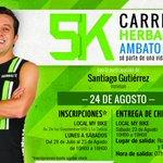 RT @HerbalifeLatino: #Ecuador ¡El próximo domingo 17 de agosto, continúa la #Herbalife5k en Ambato Ecuador! http://t.co/NWMon7Zfpq