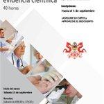"""Curso Certificado """"Toma de decisiones en Salud basada en evidencia científica"""" Inicia Sept 13 #Quito #Gye #Cuenca http://t.co/0tX5a4vxEH"""