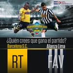 RT @ElCanalDFutbol: Dale RT si crees que gana Barcelona o dale FAV si gana Alianza Lima #CopaSudamericana http://t.co/ErJwZA4RCl