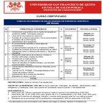TOMA DE DECISIONES EN SALUD BASADA EN EVIDENCIA CIENTIFICA 13 de septiembre inicia Curso en #Quito #Ecuador #USFQ http://t.co/mddfwt0kfn