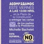 Envíanos tu carta para la Pdta Bachelet, contándole cómo te afecta la R. Educacional. Juntos somos fuerza, ¡Súmate! http://t.co/lwMIsAstYI