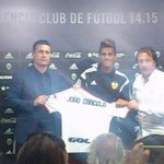 Joao Cancelo presented as Valencia CF player at the Media Center in Ciudad Deportiva de Paterna. http://t.co/ZZEoBPDcKb