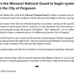 RT @stlpublicradio: INBOX: Gov. Nixon orders Mo. Nat. Guard to begin withdrawing from #Ferguson: http://t.co/fGZjnKWgwK