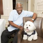 RT @TheDudekAbides: Hank Aaron meets Hank the Ballpark Pup. https://t.co/TMkWySzou2