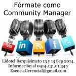RT @expodato: CURSO COMMUNITY MANAGER Sólo 30 cupos* 13 y 14 Septiembre * Lidotel #Barquisimeto * #RedesSociales #CM @OttoNavas http://t.co/RhS419HS0H