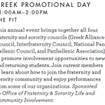#WOW14 in Pit: OFSL Greek Promotional Day, 8/22 11am-12pm http://t.co/LwWtf8ihuO