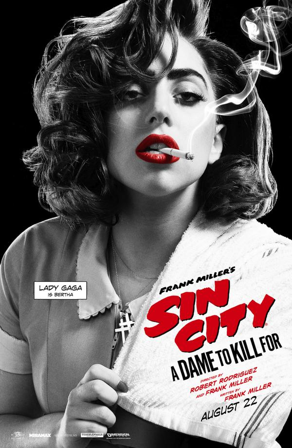 1 more day till #SINCITY2! Check out @LadyGaga as #BERTHA http://t.co/7tjFqeuzy6