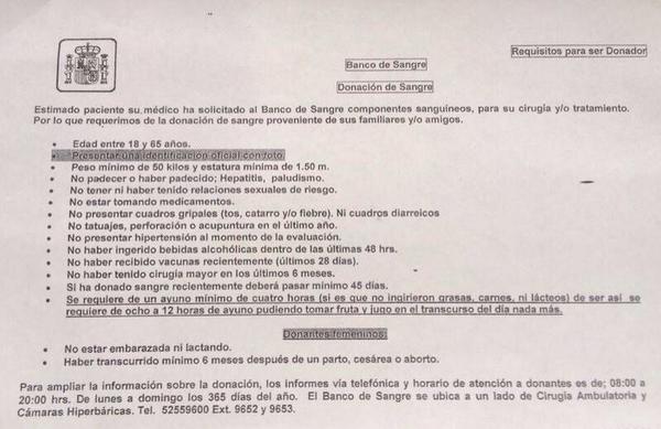 Se necesitan donadores de sangre para el medallista paralímpico @Arlyvelasquez en Hospital Español RT http://t.co/awzFYwMX48