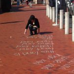 Wey-hey its World Poetry Day. You see what I did there. Poets at #Auckland waterfront are getting into the swing... http://t.co/0Ce1VZQUI2
