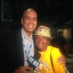 Ann Haley. Overjoyed. She and her late husband started #JackieRobinsonWest 43 yrs ago. http://t.co/kJ4BoiILtg