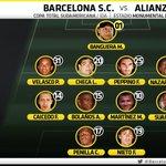 Alineación @BarcelonaSCweb vs #AlianzaLima | @CopaTotalSud: http://t.co/CuIHpqGegW ¿Y Saritama?