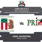 FINAL Municipal Kanasin, Yuc. COPA PRI FUT 7. Invitados a apoyar a #MayasDeYucatanFC @PRI_Deporte @gutyespadasjr http://t.co/YeRZccjXfy