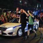 NYPD cops beat man during solidarity protest for #MichaelBrown in East Village http://t.co/oT2SCO1IO1 #Ferguson http://t.co/MnsKFQc4tc