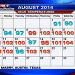 RT @scottfisherFOX7: Scott Fisher Says: How hot EVERY DAY this month? Look Here! http://t.co/fNIJv2e9Ju