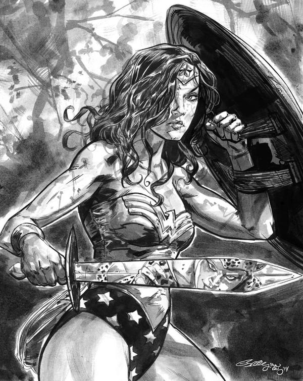 Wonder Woman I drew today while waiting for Dead Boy layouts. Ink on paper. http://t.co/YevLoaz1Xz