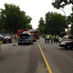 RT @CTVBrendan: At least four vehicles involved in collision on 23rd St. & 9th Ave. N - No serious injuries, road is closed. #yql http://t.co/sxnmcbEwMc