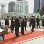 """""""@ChuBailiang: Respect. In Mongolia, Xi Jinping bows in tribute to a statue of Genghis Khan. http://t.co/7PzYTEu8rT http://t.co/jPoobW8NYg"""""""
