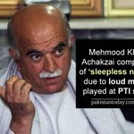 RT @ePakistanToday: Achakzai cant sleep due to PTI music http://t.co/GepblmjM0H http://t.co/jSM9Iid3aM