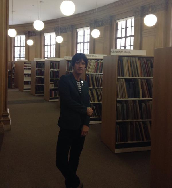 Music legend @Johnny_Marr at our Henry Watson music library yesterday. He's a big fan of Central Library! #johnnymarr http://t.co/nYmVJ6IVEr