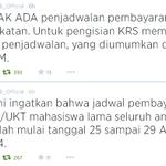 Pembayaran SPP utk mahasiswa lama, tetap tgl 25-29 & tdk per angkatan. Sdah dikonfirmasi di #AkademikUB http://t.co/RHS5WlVw2U | @teropongku