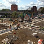 RT @TomBrownTV: Big transformation of #Leicesters £4m Jubilee Square over last two weeks. But council says wont be finished til Oct http://t.co/Te06U0zGfh