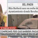 RT @EsppeonzAguirre: A 100€/mes,Rita debería 27600 € por parking de su coche durante 23 AÑOS. Se aparcó ella y su coche en el Ayuntamiento http://t.co/QzXEk3zdPJ