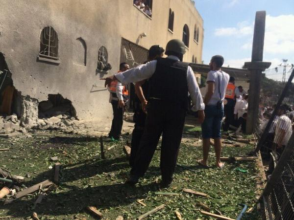 """@israelconnect: PHOTO: Rocket hits synagogue in Ashdod. Light injuries reported. http://t.co/f8C907SGl0"" at least not on Fri night"