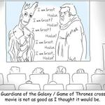 RT @AnakNonton: LOL. RT @mashable: Maybe @Guardians of the Galaxy and @GameofThrones arent really that different, after all. http://t.co/HEY6HNXrwO