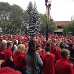 RT @VisitRedDeer: #RedDeerisReady ! Check out that sea of RED @RedDeer2019 join us & rally to bring the @CanadaGames 2019 to #RedDeer http://t.co/uilfpSxry8