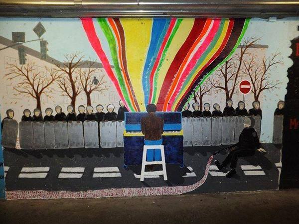 Графіті в тунелі університету Лаваль в м.Квебек (Канада). Кажецца, я крутий. http://t.co/ui2SHufQ5r