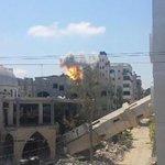 "RT @reemrose777: ""@iFalasteen: The bombing never stops in Gaza..Look at this airstrike that hit Gaza now #GazaUnderAttack #PrayForGaza http://t.co/IphjxWQ6na"