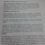 RT @SergioBasantes1: Documento emitido por parte de la @FEFecuador sobre las acciones legales que se tomarán en contra de Rodrigo Paz. http://t.co/H6mbL5P7tx