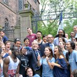 President Peter Salovey & Yale College Dean Jonathan Holloway pose for a selfie as new students arrive #Yale2018 http://t.co/JnZ4w3grK0