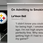 "Steelers LeVeon Bell: ""I didnt know you could get a DUI for being high. I smoked 2 hours ago. Im not high anymore"" http://t.co/uljCFAYXD2"