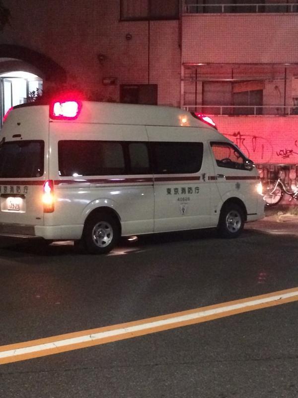 はじめさんが救急車で運ばれてます http://t.co/esBFtDnjpY