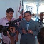 Junto a alcalde #Tumbes, medio de comunicación nos entrevista sobre #EncuentroBinacional y cumplimiento de acuerdos http://t.co/hG2VSyjzo4