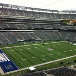 GAMEDAY! @MLStadium is all set for #MetLifeBowl. #NYGvsNYJ #duelingendzones http://t.co/DzUq32LSLB