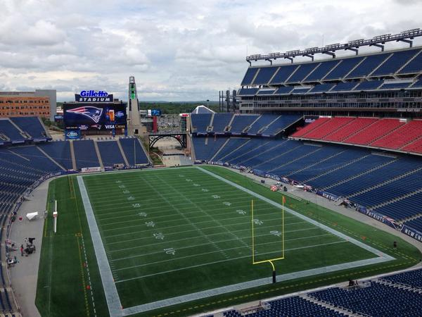 Photo  view from the press box at gillette stadium -- panthers at patriots  (7 30 p.m. et). - scoopnest.com e98cbc7417
