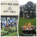 RT @StephWiebeCTV: Like a #WinterWonderland in #August around @CityofRedDeer for the @RedDeer2019 Rally. Big day for the citys bid! http://t.co/wvag1ZfRiV