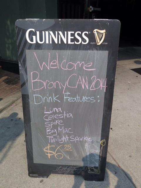Kudos to @CeilisNation and the Richmond location for the kindness shown at @BronyCAN 2014! Someone alert Drinkie Pie. http://t.co/TbPmlLFRI0