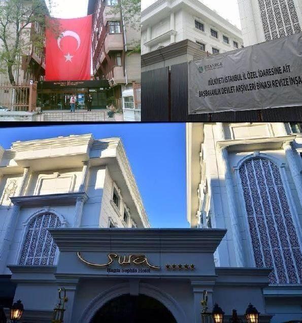 """Sultanahmet'teki Başbakanlık Osmanlı Arşivi Binası. """"Yenileme projesi"""" diye başladılar. """"Otel"""" yaparak bitirdiler. http://t.co/viQZRqxpOO"""